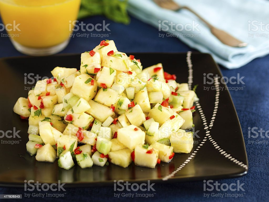 Pineapple salsa stock photo