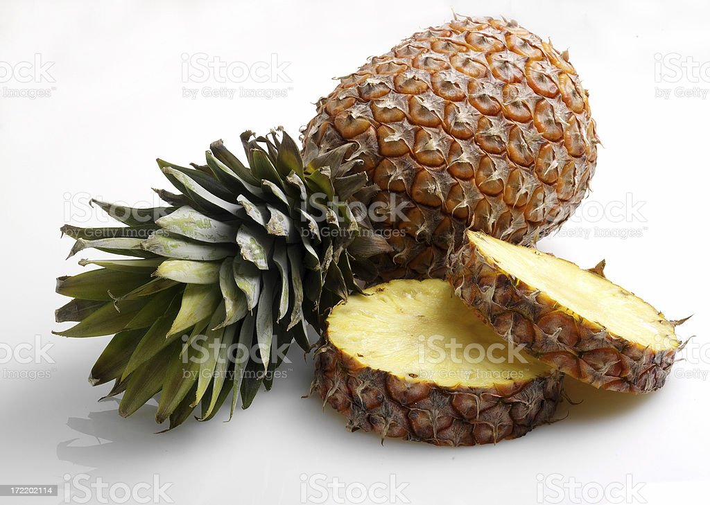 Pineapple & slices royalty-free stock photo