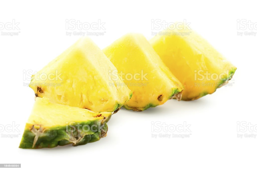 pineapple slices stock photo