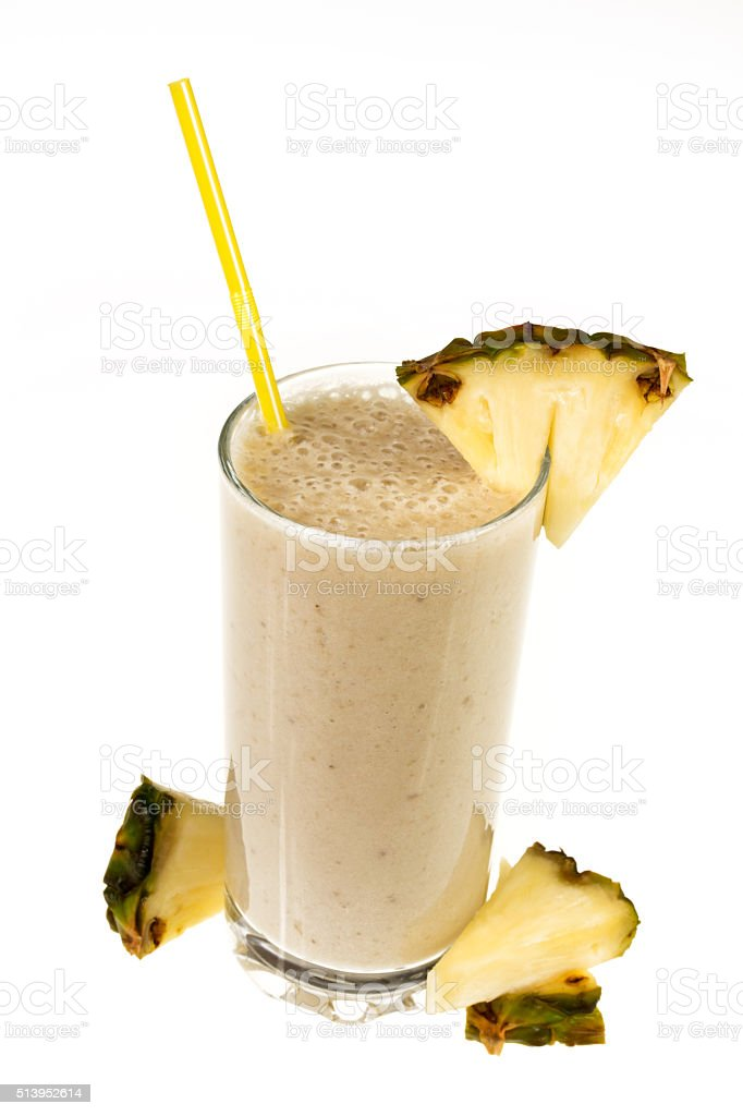 Pineapple smoothie - pina colada stock photo