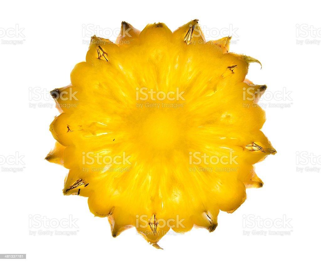 pineapple sun stock photo