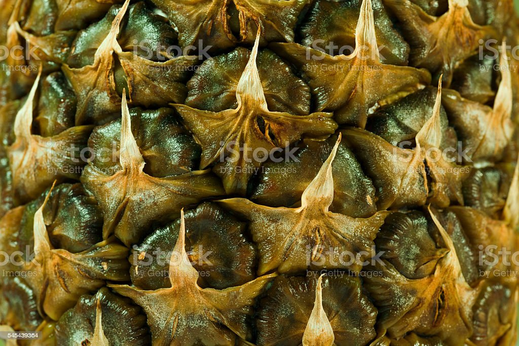 Pineapple texture close up shot stock photo