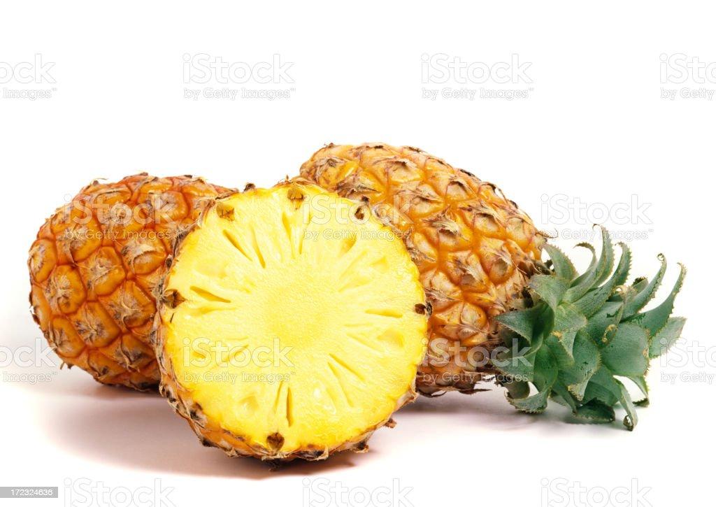 Pineapple trio stock photo
