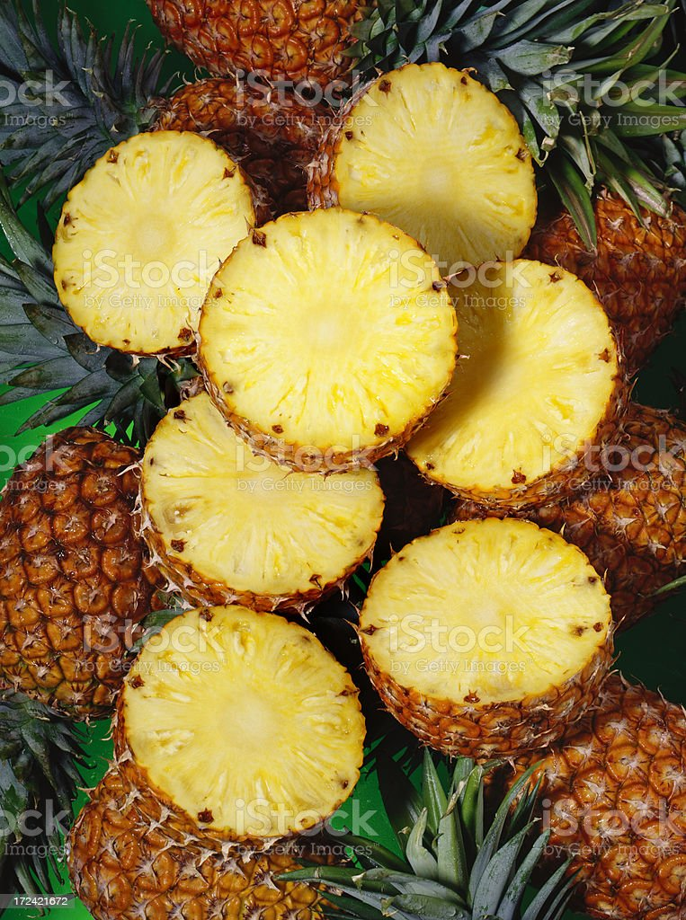 Pineapple wallpaper (4) royalty-free stock photo