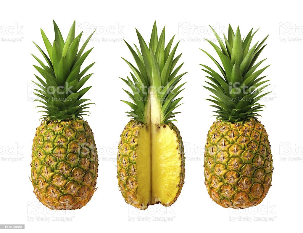 Pineapples isolated royalty-free stock photo