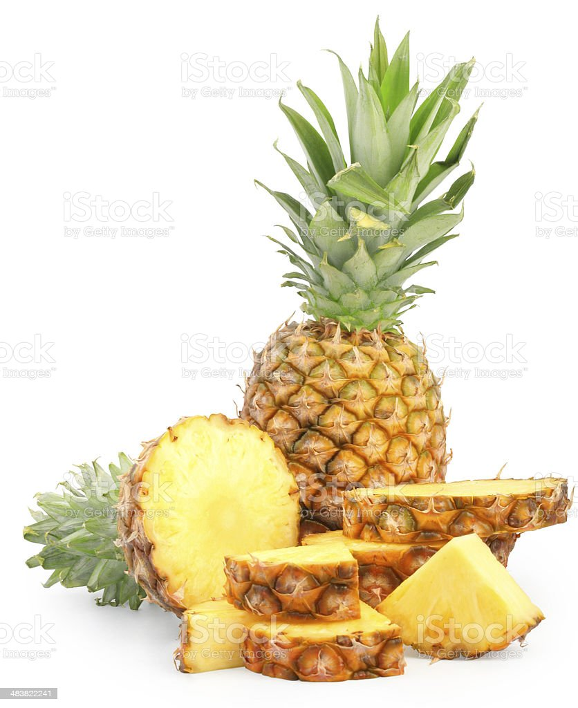 pineapples stock photo