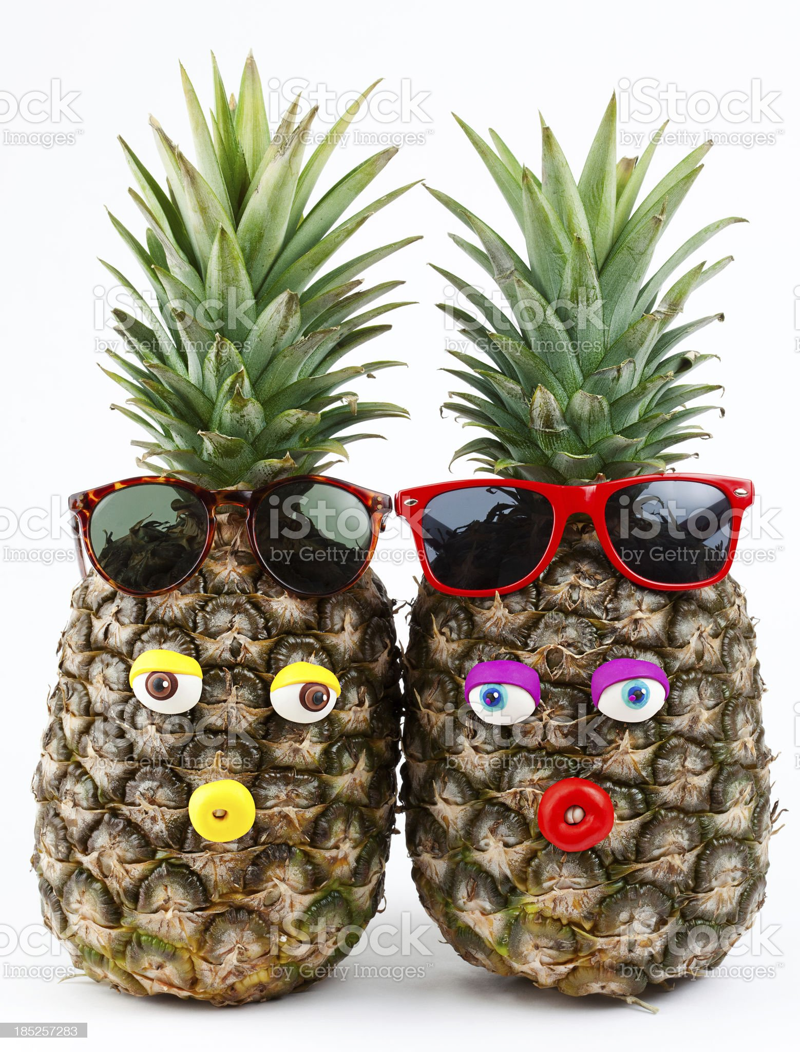 Pineapples portrait royalty-free stock photo