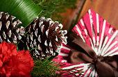 Pinecone on christmas decoration