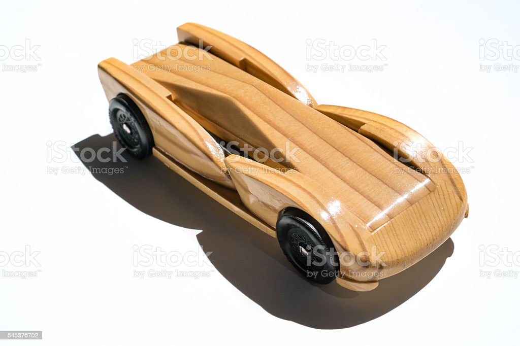 Pinewood Derby Car stock photo