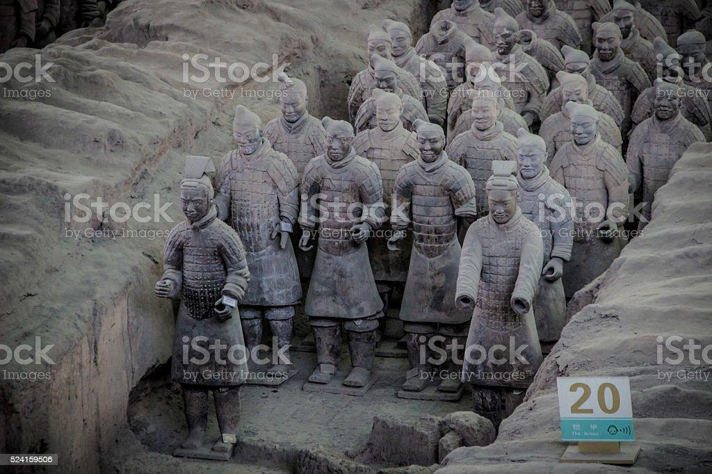 Ping Ma Yong, Terra cotta army at  Xian, China, stock photo