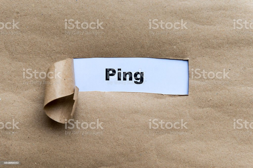 ping stock photo