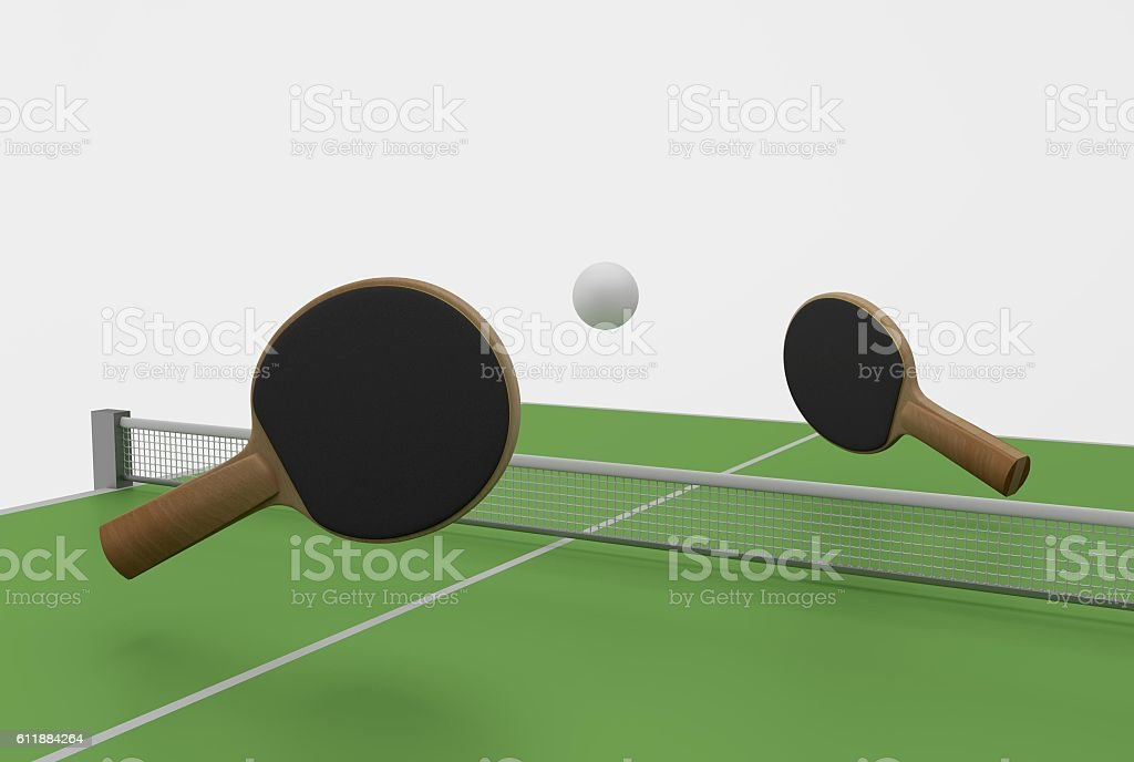 ping pong and table stock photo