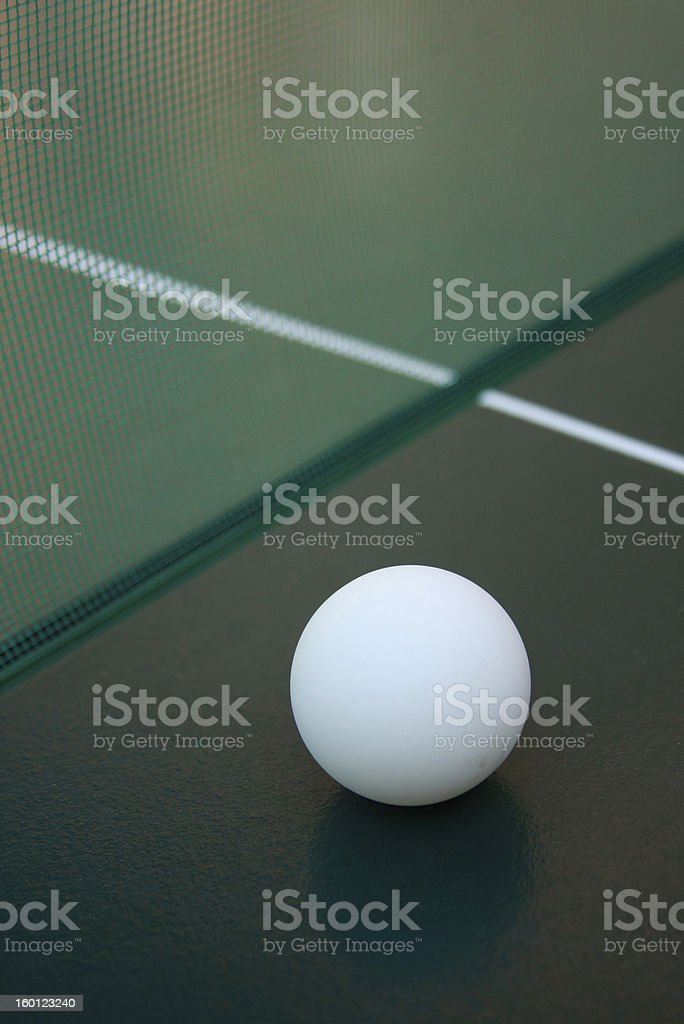 ping pong ball and net. royalty-free stock photo