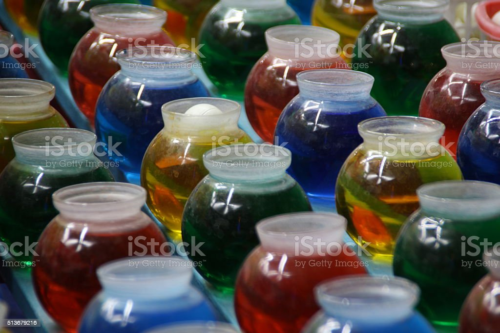 Ping Pong Ball in Bowl stock photo
