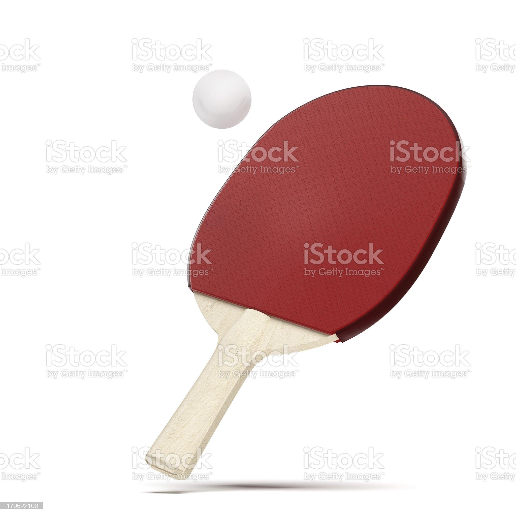 Ping pong paddle and balls royalty-free stock photo