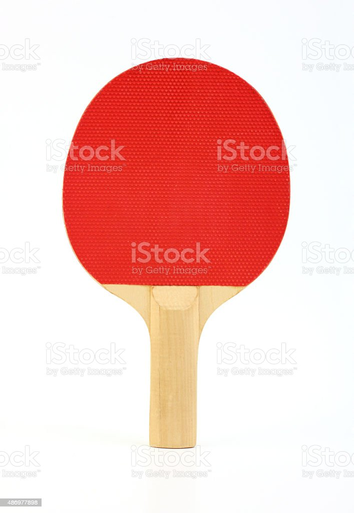 Ping pong paddle stock photo