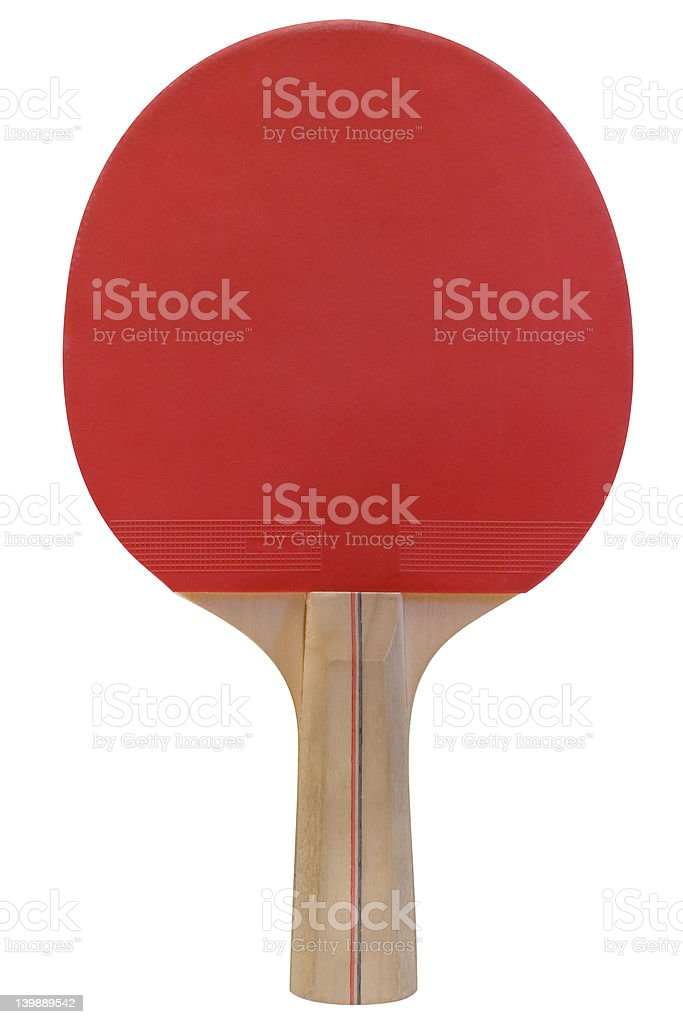 Ping Pong Paddle w/ Path stock photo