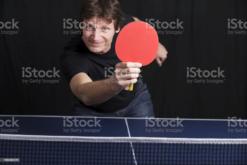 Ping Pong Player Male stock photo