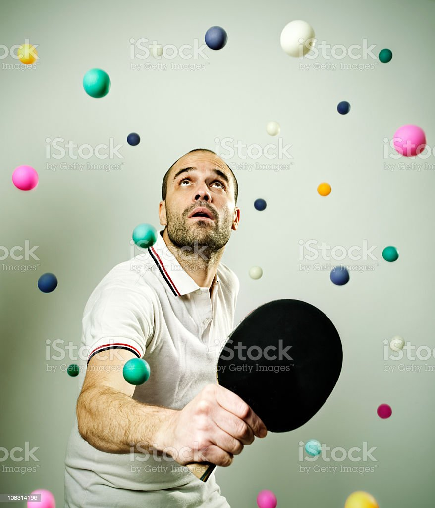 Ping pong problems stock photo