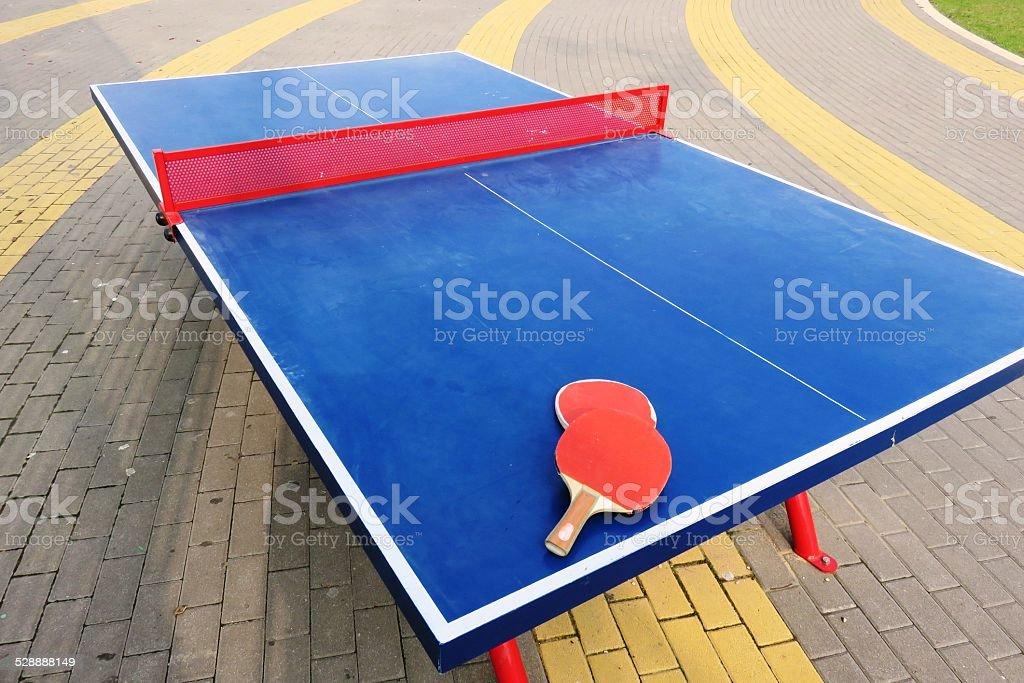 Ping pong table stock photo