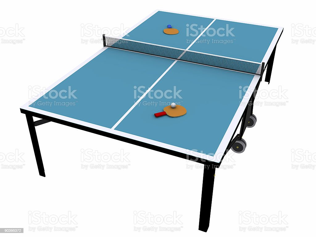 Ping Pong Table (Clip Path) royalty-free stock photo