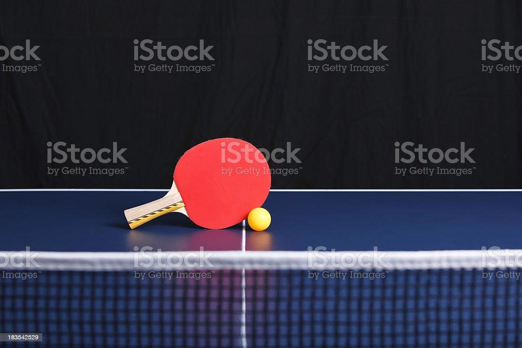 ping pong table tennis ball rachet net stock photo