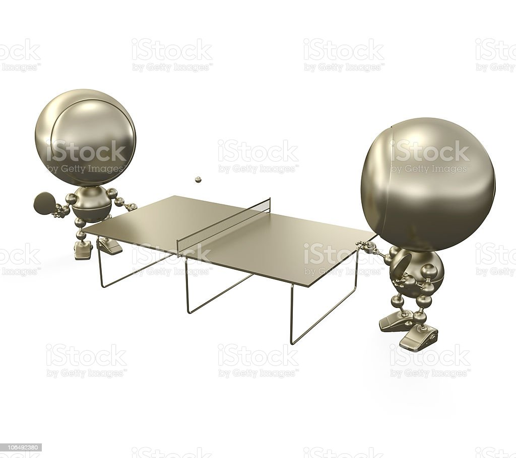 ping-pong players play royalty-free stock photo