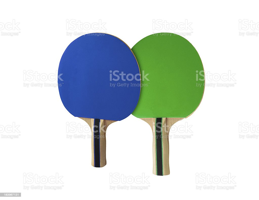 Pingpong racket isolated on white royalty-free stock photo