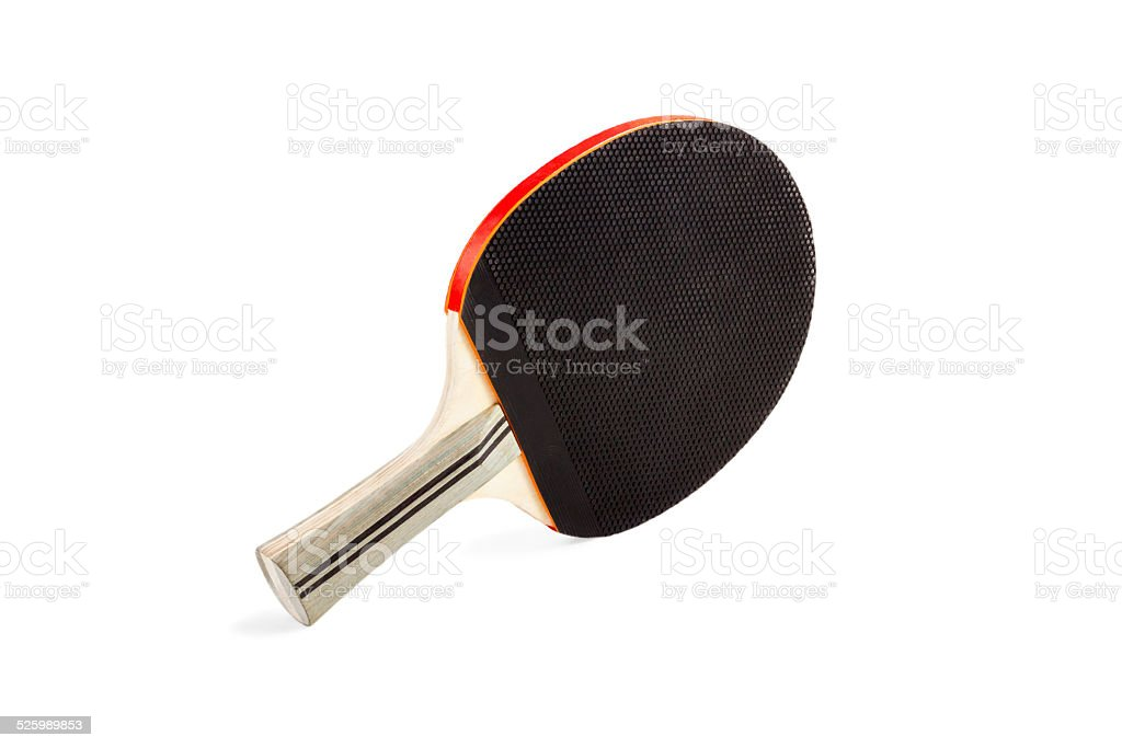 Pingpong racket stock photo