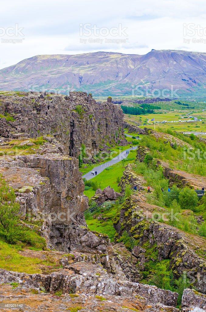 Pingvellir - Nationalpark Iceland stock photo