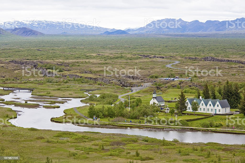 Pingvellir view royalty-free stock photo