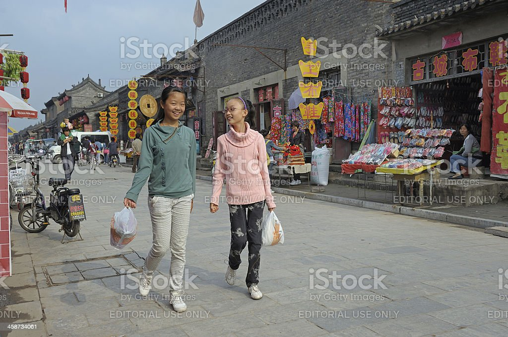 Pingyao street's life royalty-free stock photo