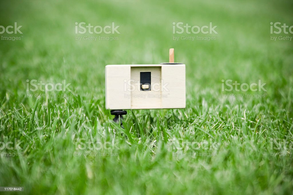 pinhole camera stock photo