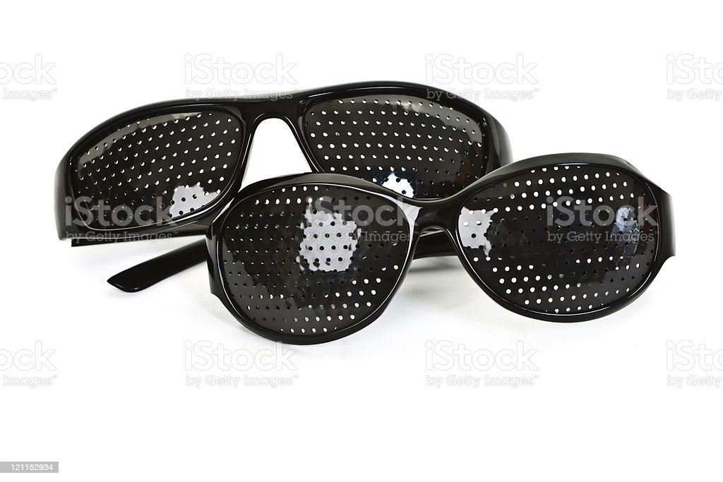 Pinhole Glasses stock photo