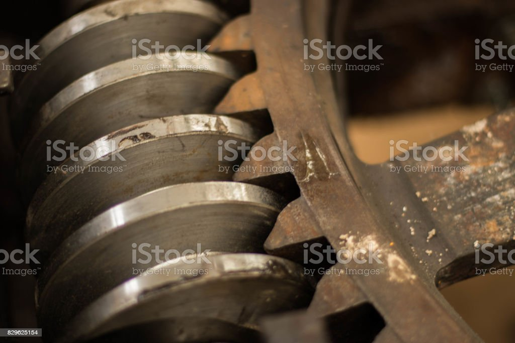 Pinion and steel crown stock photo