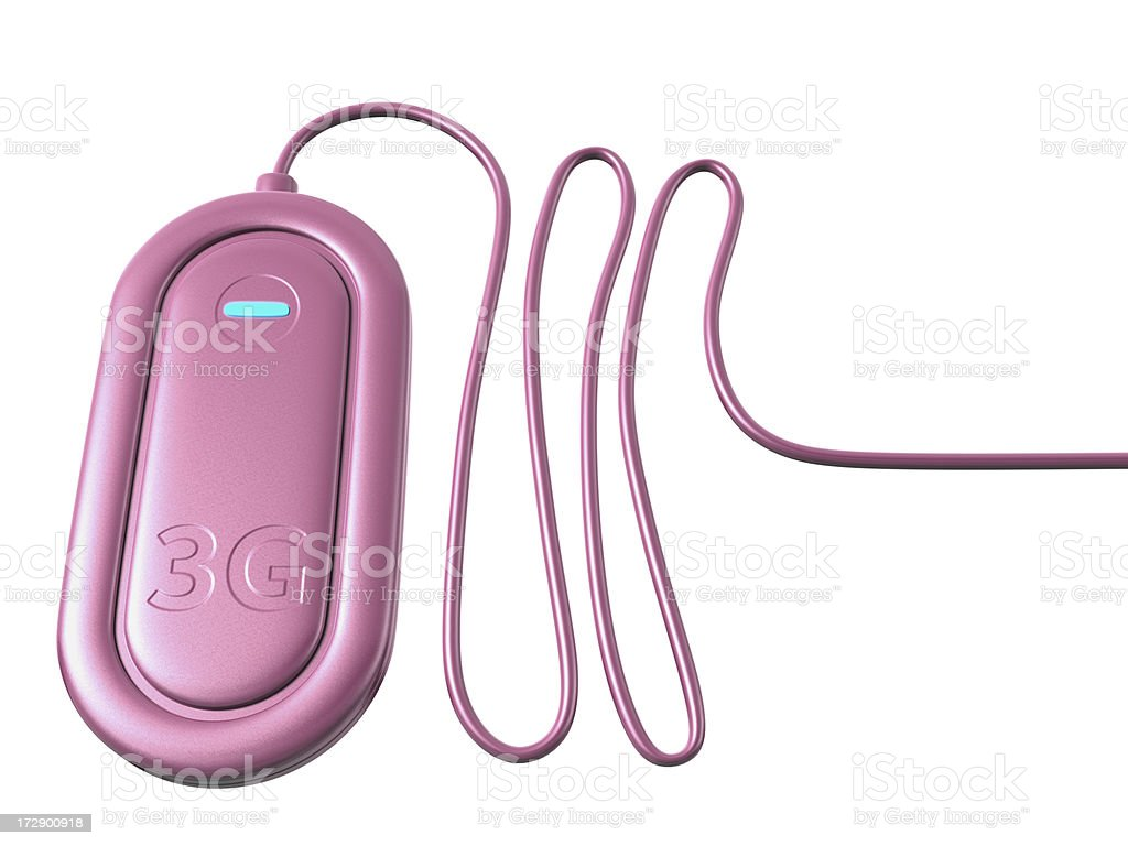 Pink 3G dongle stock photo