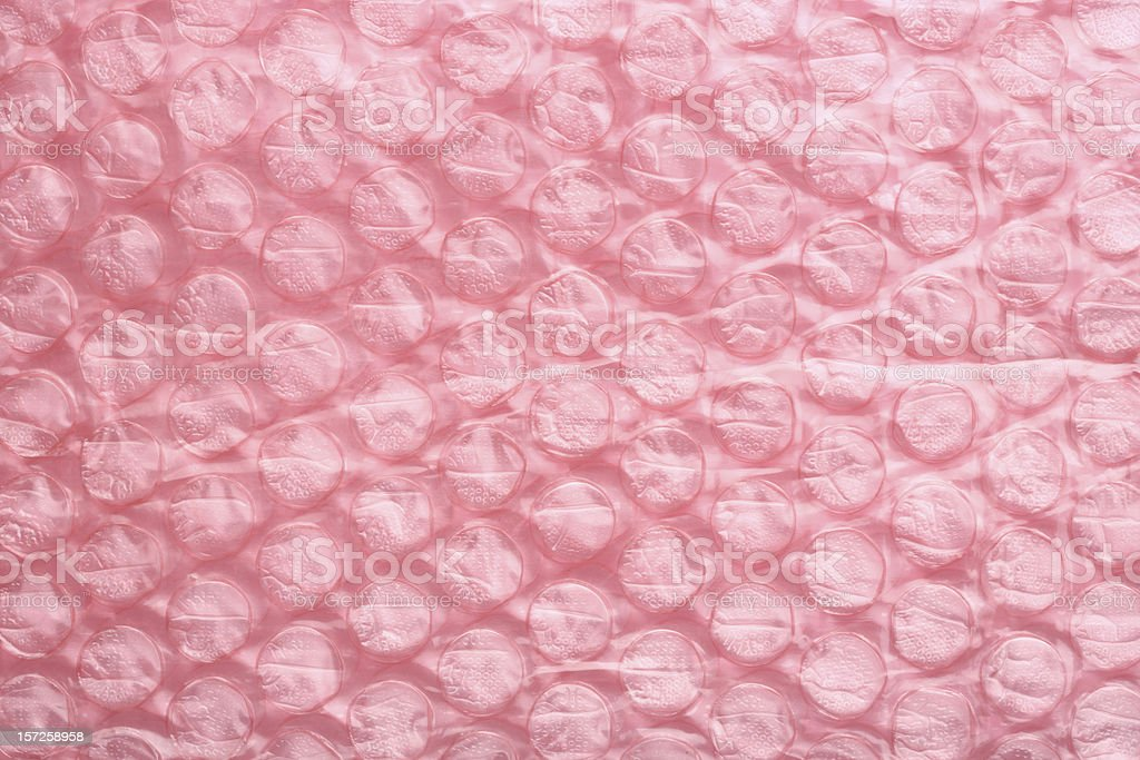 Pink air bubble sheet stock photo