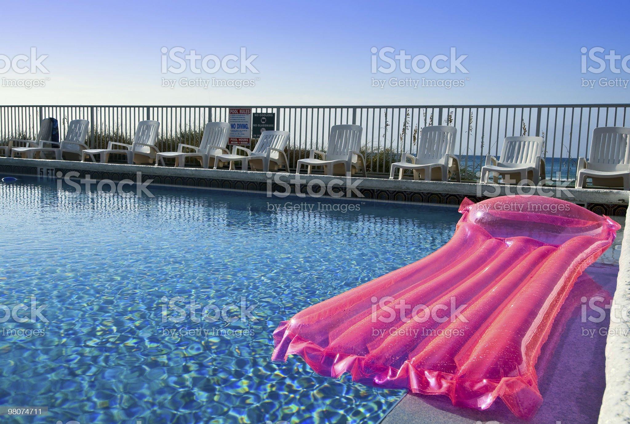 Pink air mattress royalty-free stock photo