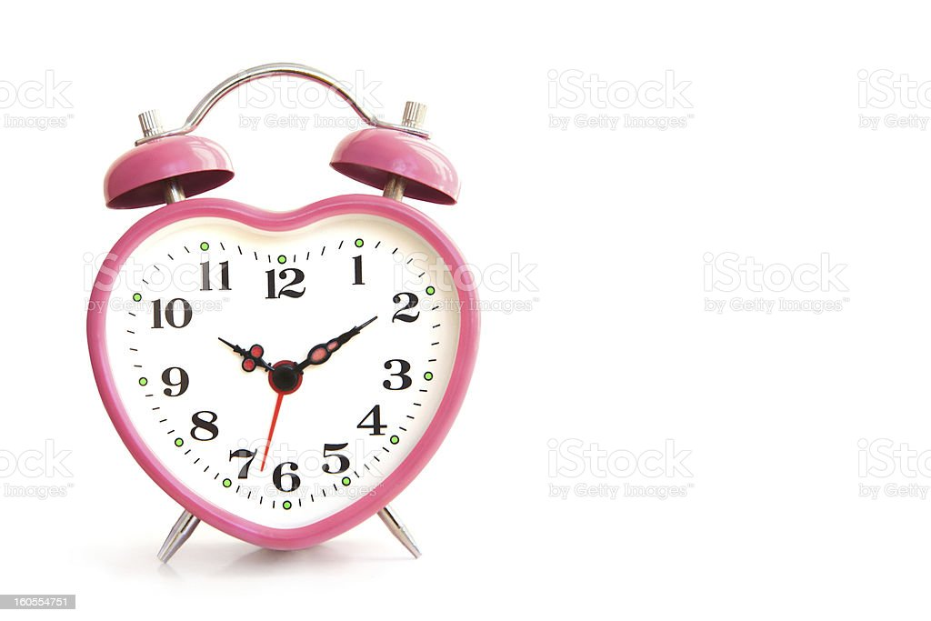 pink alarm clock royalty-free stock photo