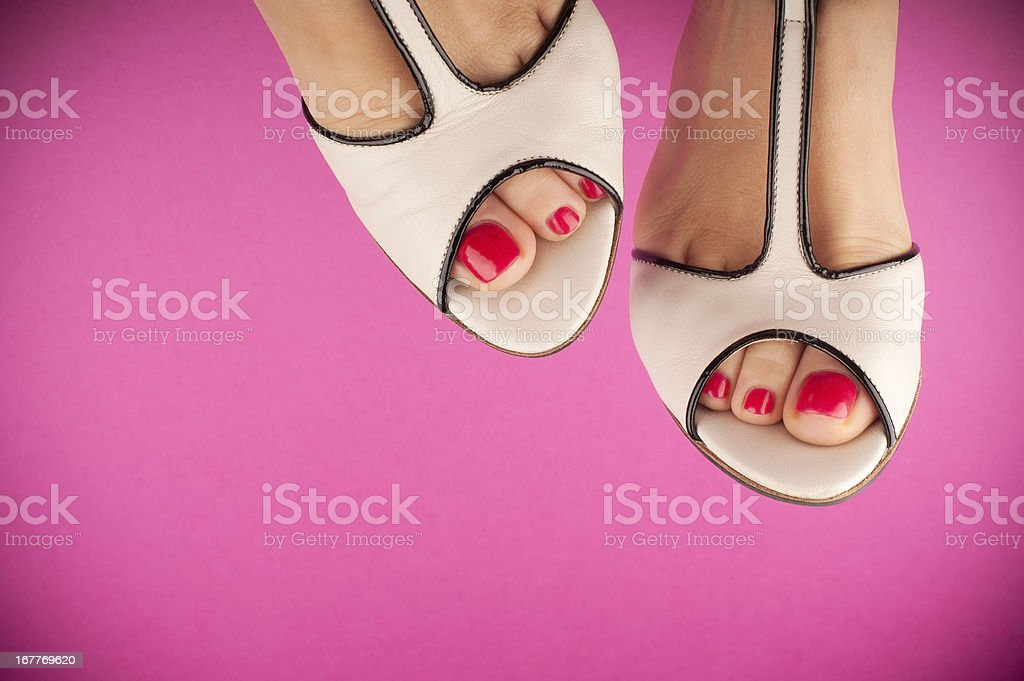 Pink & White royalty-free stock photo