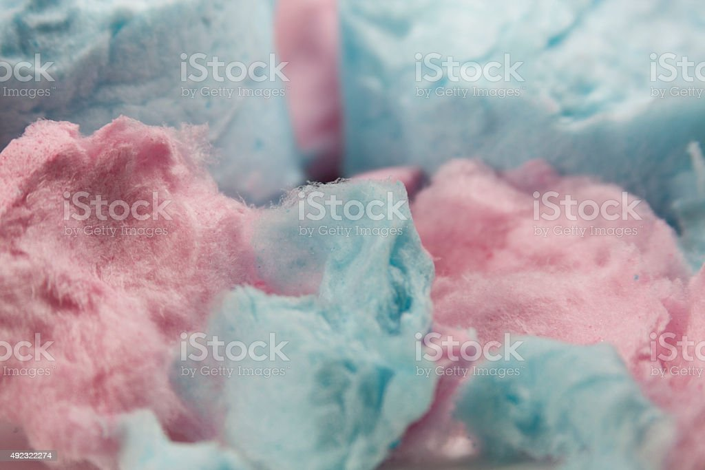 Pink and Blue Cotton Candy stock photo