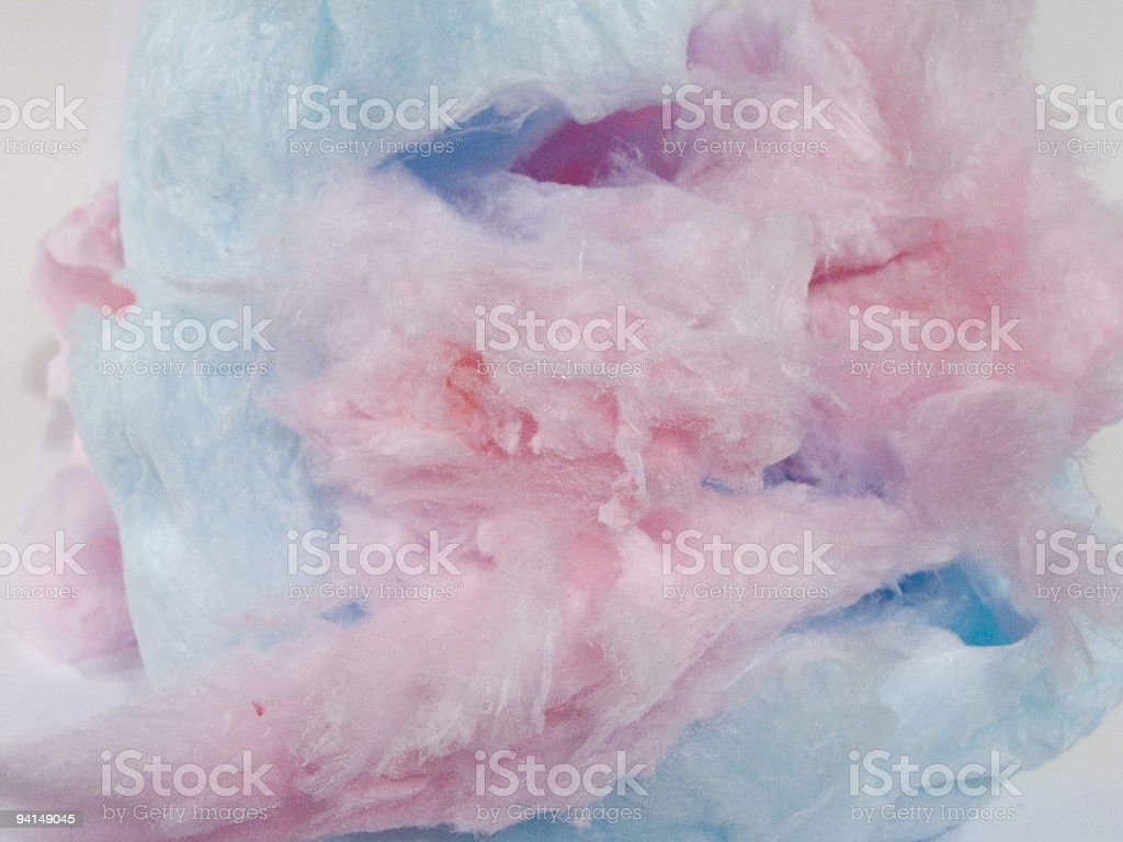 Pink and blue cotton candy put together stock photo