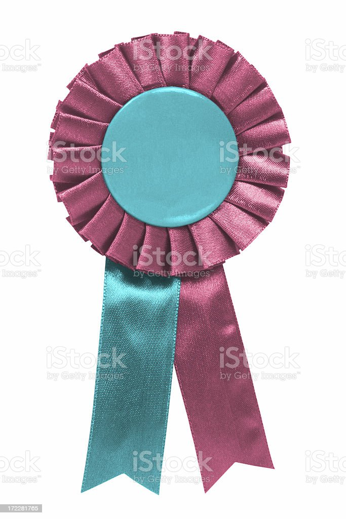 Pink and blue ribbon stock photo