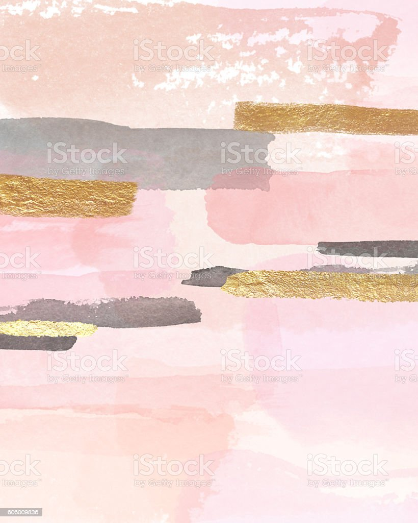 Pink and Gold Decor stock photo