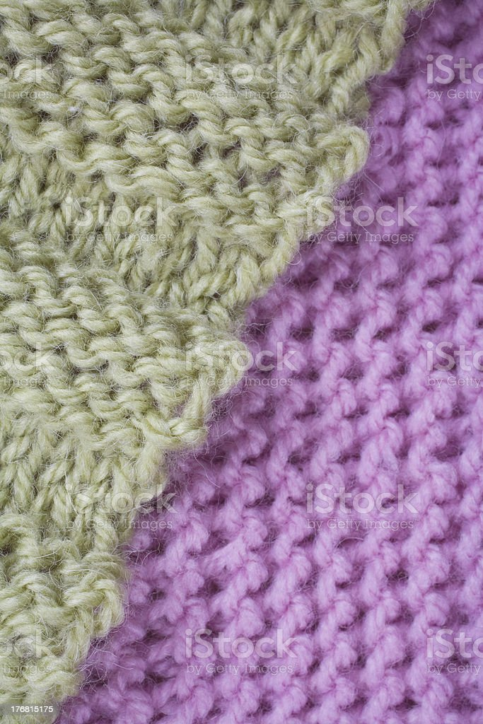 Pink and green knit stock photo