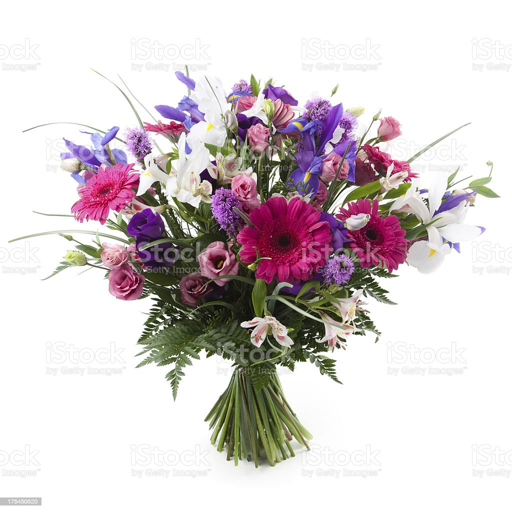 Pink and purple bouquet stock photo