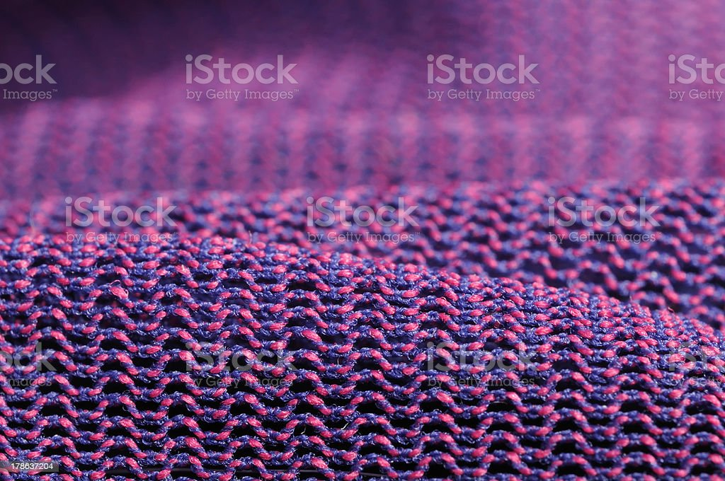 Pink and Purple Macro Fabric Texture royalty-free stock photo
