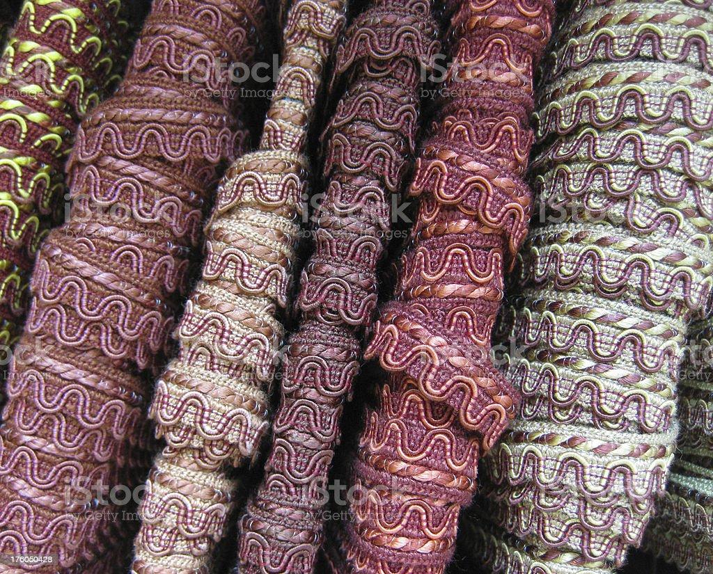 Pink and Purple Ribbon Trim royalty-free stock photo