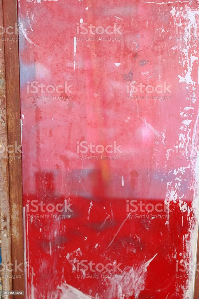 Pink and red doorl. School of Berahile-Ethiopia. 0411 stock photo