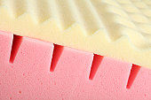 Pink and white Bed Mattress Foam